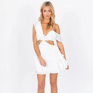 Lioness White Flamenco Dress